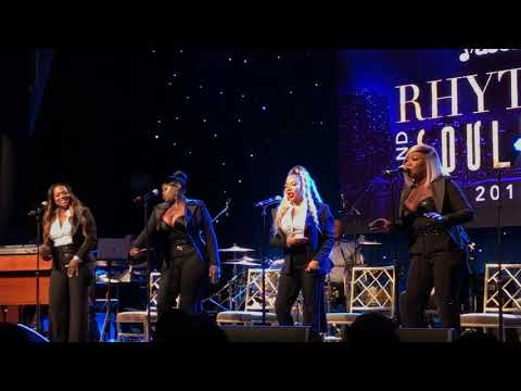 "Xscape performs ""Who Can I Run To"" at ASCAP Urban Awards in Beverly Hills"