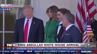 FNN: President Trump & Melania Trump Welcome King Abdullah and Queen Rania of Jordan to White House