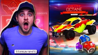 Opening ALL of My *NEW* SEASON REWARDS in Rocket League! - GUY GOT THE FIRST WHITE OCTANE IN A CRATE
