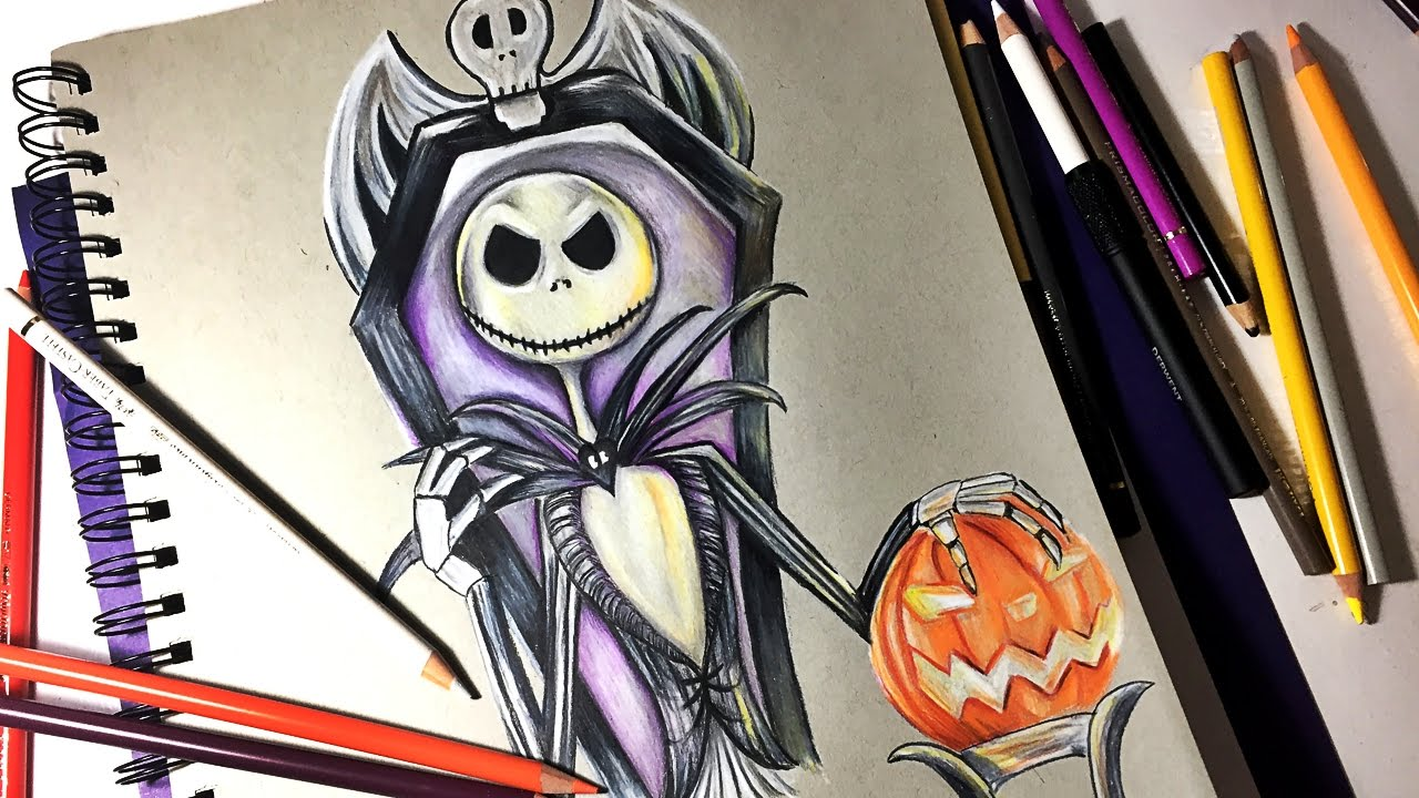 Drawing Jack Skellington from The Nightmare Before Christmas🎃 - YouTube
