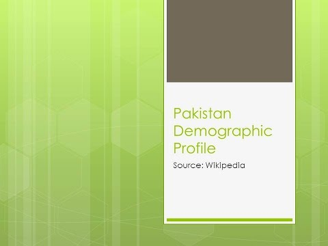 Pakistan Demographic profile