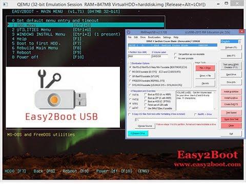 การทำ flash drive boot windows 7,8,10 ด้วยโปรแกรม easy2boot,RmprebUSB