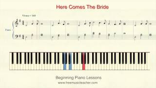 "How To Play Piano: 25 ""Here Comes The Bride"" Piano Tutorial by Ramin Yousefi"