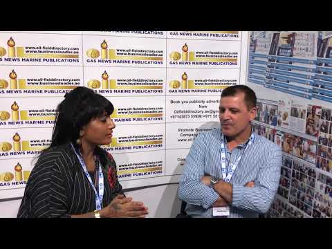 ADIPEC 2017- RENU GIHAR WITH RYAN MOORE -OFFSHORE SERVICES MANAGER - ITI MARINE & OILFIELD