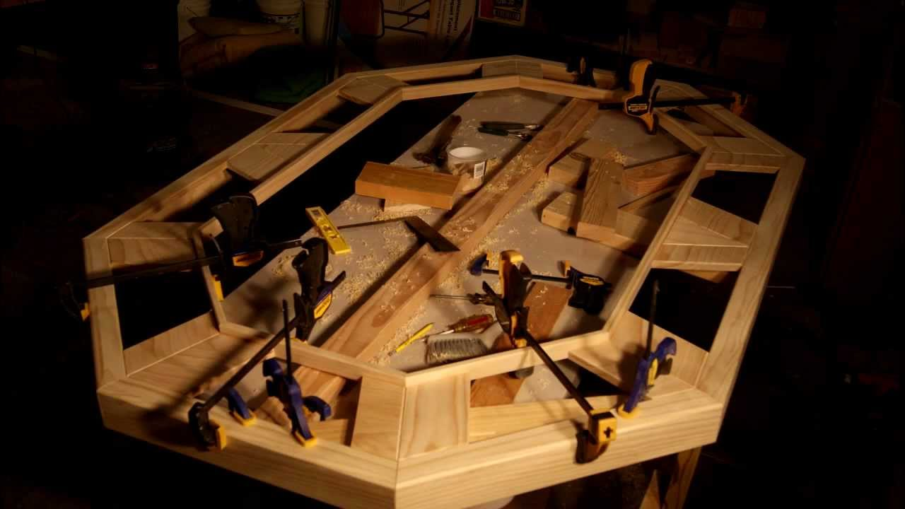 How to made a Wood Poker Table? by Ken Davis - YouTube