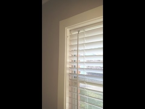 Removable Window Frame... Recessed Blinds.