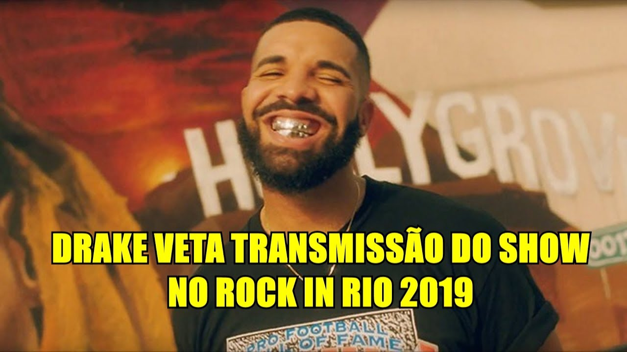 Drake veta tirolesa e transmissão de show no Rock in Rio 2019