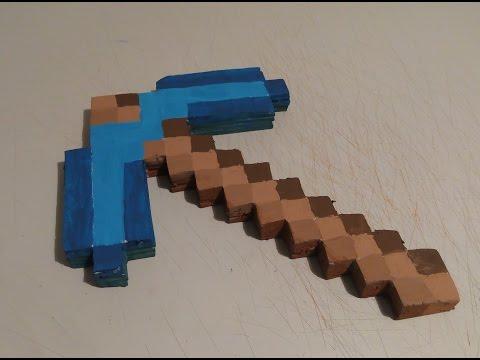 Как сделать АЛМАЗНУЮ КИРКУ из Minecraft Легкий способ!