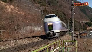 E351系特急スーパーあずさ笹子S字を行く その2