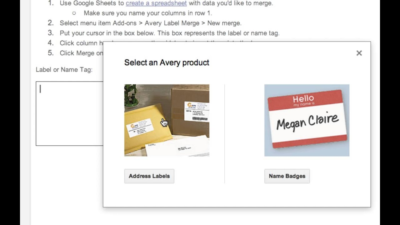 How To Mail Merge And Create Labels In Google Docs Youtube