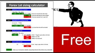 Free download: Forex Lot sizing tool used by the Double in 1 Life Style Forex trading process