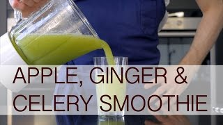 Apple, ginger & celery smoothie