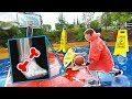We put a TON of SOAP on a Rainy Basketball court... ( ANKLE BREAKER )