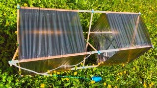 вОЗДУШНЫЙ ЗМЕЙ ИЗ РЕЕК И ПАКЕТОВ СВОИМИ РУКАМИ / Homemade box kite