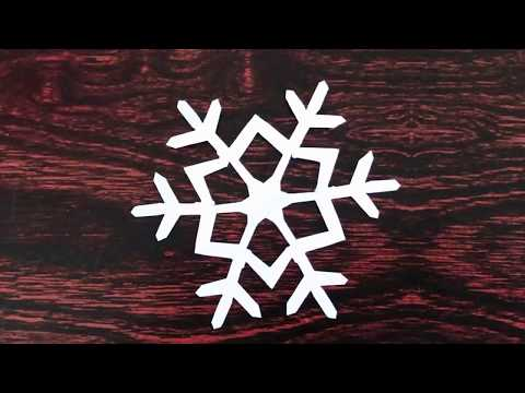 Snowflake Paper Cutting / How To Make Paper Snowflake