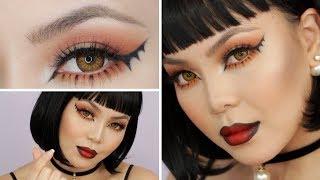 bat winged liner halloween makeup tutorial   annamariapdt   2017