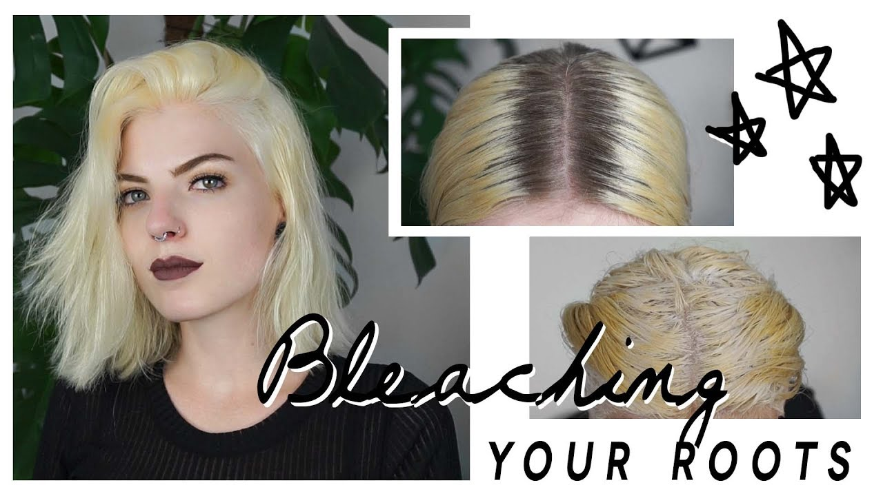 HOW TO BLEACH YOUR ROOTS | at home - YouTube