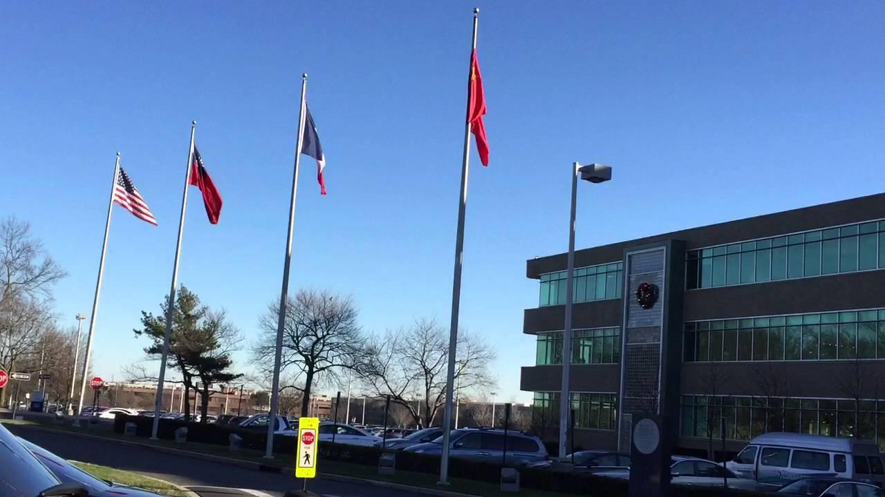 聯合國臨時總部 中華民國國旗飄揚 - YouTube