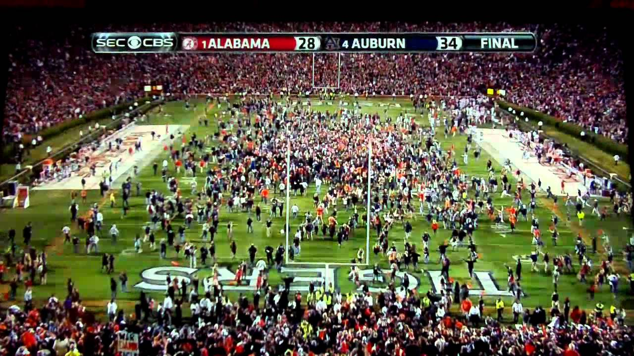 Iron Bowl 2013 (Auburn vs. Alabama) THE AMAZING 109YD ...