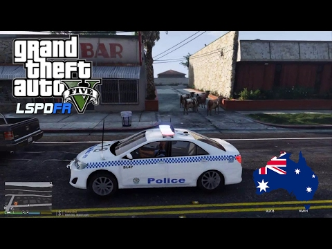 GTA 5 NSW Police Mod - Toyota Camry Paleto Bay Patrol (Play GTA V as a cop mod for PC)