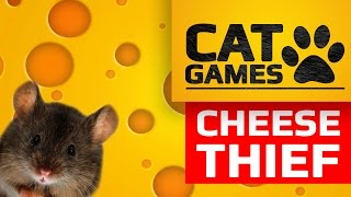 CAT GAMES - CHEESE THIEF (SCREEN GAME FOR CATS)