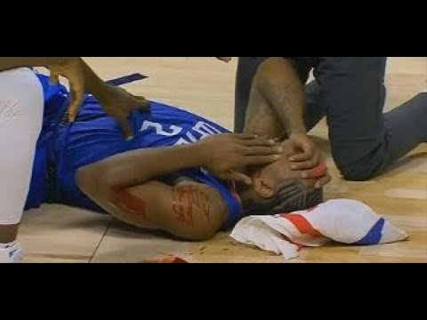 [BREAKING] Kawhi Leonard takes a HARD elbow to the face from Ibaka