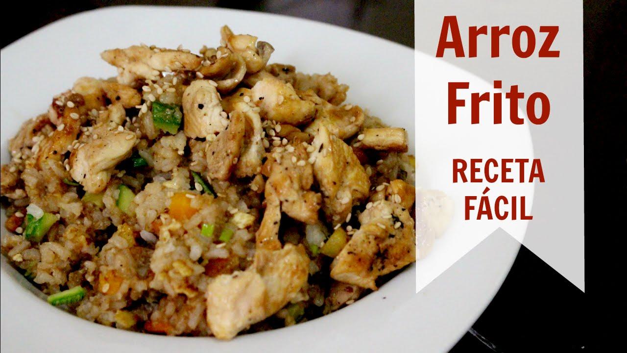 Arroz frito con pollo receta f cil arroz chino youtube for Cocinar 2 tazas de arroz