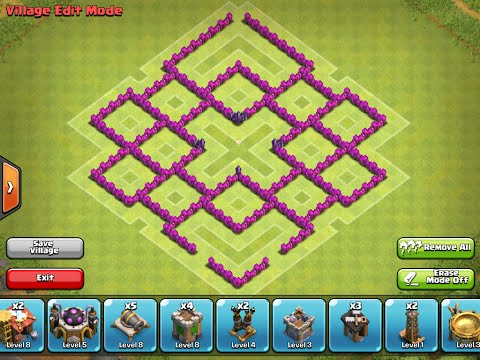 Clash of Clans|TH7 Farming Base|Dark Elixir Guardian