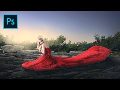 Photoshop CC Manipulation Tutorial - Red Dress