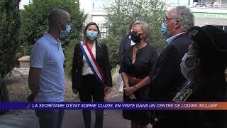 La Secrétaire d'état Sophie Cluzel en visite dans un centre de loisirs inclusif