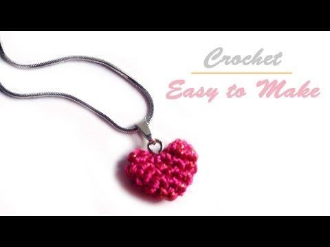 หัวใจโครเชต์ง่าย ๆ ถักเสร็จได้ใน 10 นาที (Crochet tiny heart)