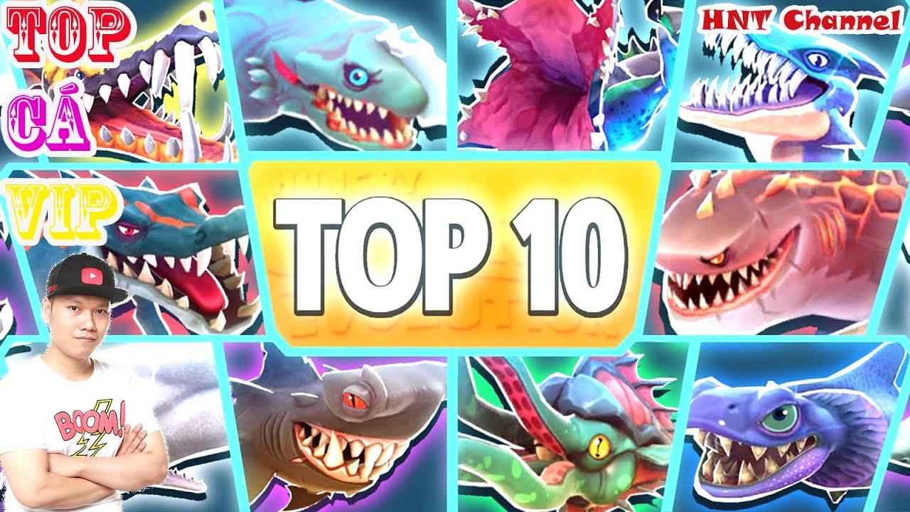 trò chơi cá mập ăn cá nhỏ cá lớn nuốt cá bé HNT chơi game #5 hungry shark evolution game new 65