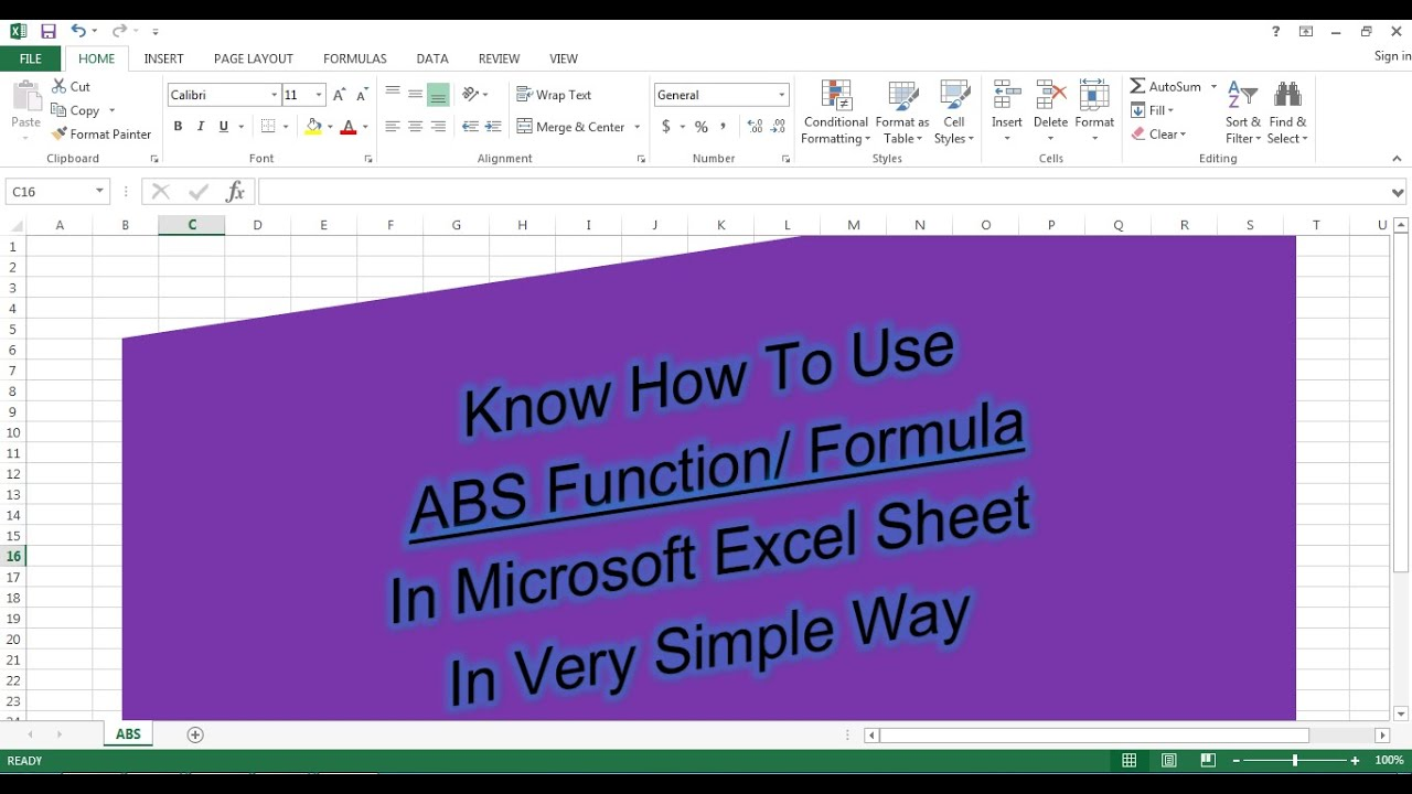 How To Use ABS Formula In Excel Sheet    ABS Function    Fast ...