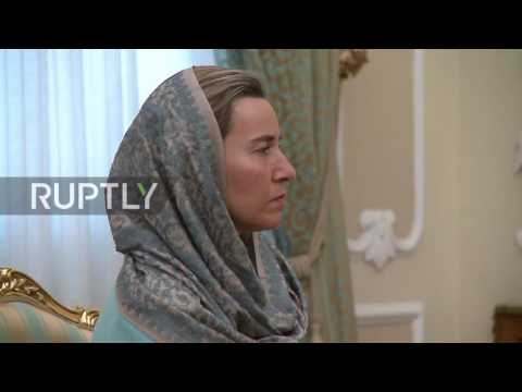Iran: EU's Mogherini meets Rouhani to talk Syrian conflict