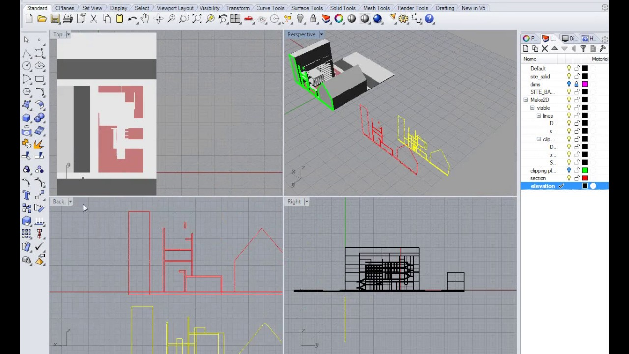 Orthographic Projections In Rhino