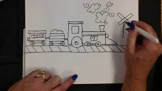 Kids Can Draw: Easy Train