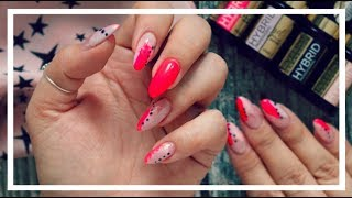 Łatwe zdobienie paznokci dla każdego!  TESTUJĘ HYBRYDY EVELINE COSMETICS