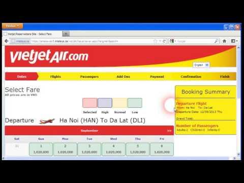Hướng dẫn mua vé máy bay Vietjet online