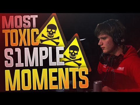 CS:GO - MOST TOXIC S1MPLE MOMENTS! (FUNNY&RAGE)