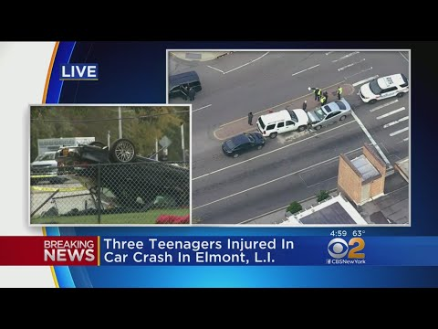 3 Teens Hurt In Car Crash On Long Island