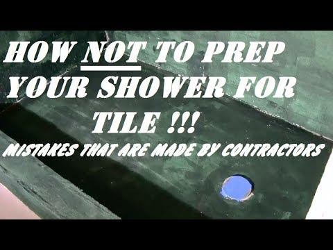 PREPARING SHOWER FOR TILE ...mistakes - YouTube