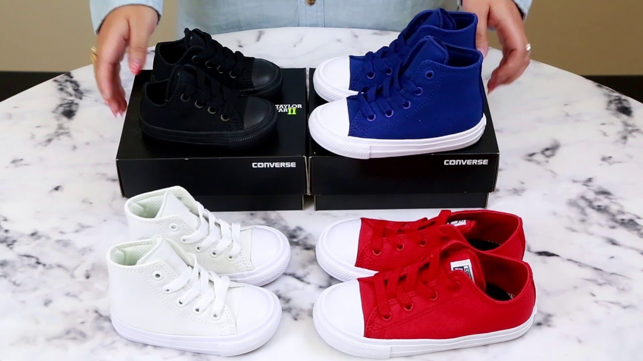 82ffa52b3d598b Unboxing the Converse Chuck II Kids Collection - YouTube