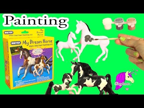 Breyer DIY Mare And Foal My Dream Horse Painting Craft Kit - Honeyheartsc Video