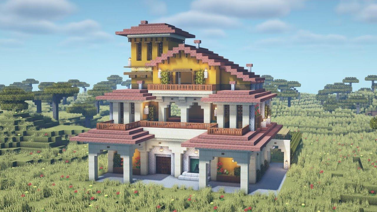Minecraft - How to Build a Spanish Villa Tutorial