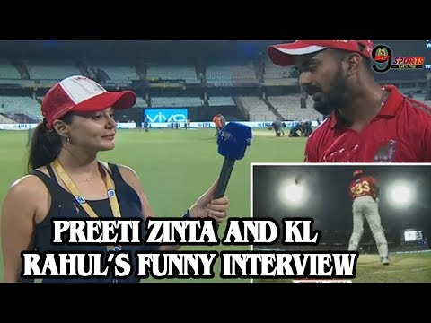 IPL-2018: Watch Preity Zinta And KL Rahul's Funny Interview on Gayle, Video Viral | thumbnail