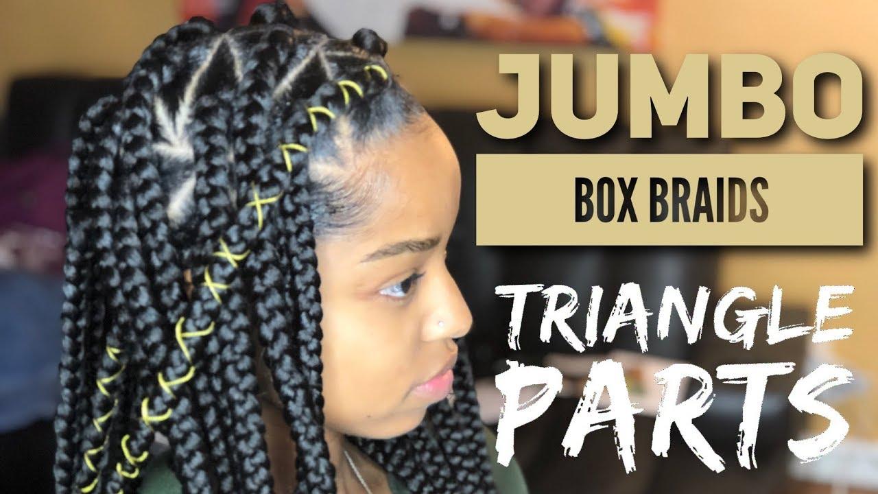 Jumbo Triangle Box Braids Youtube