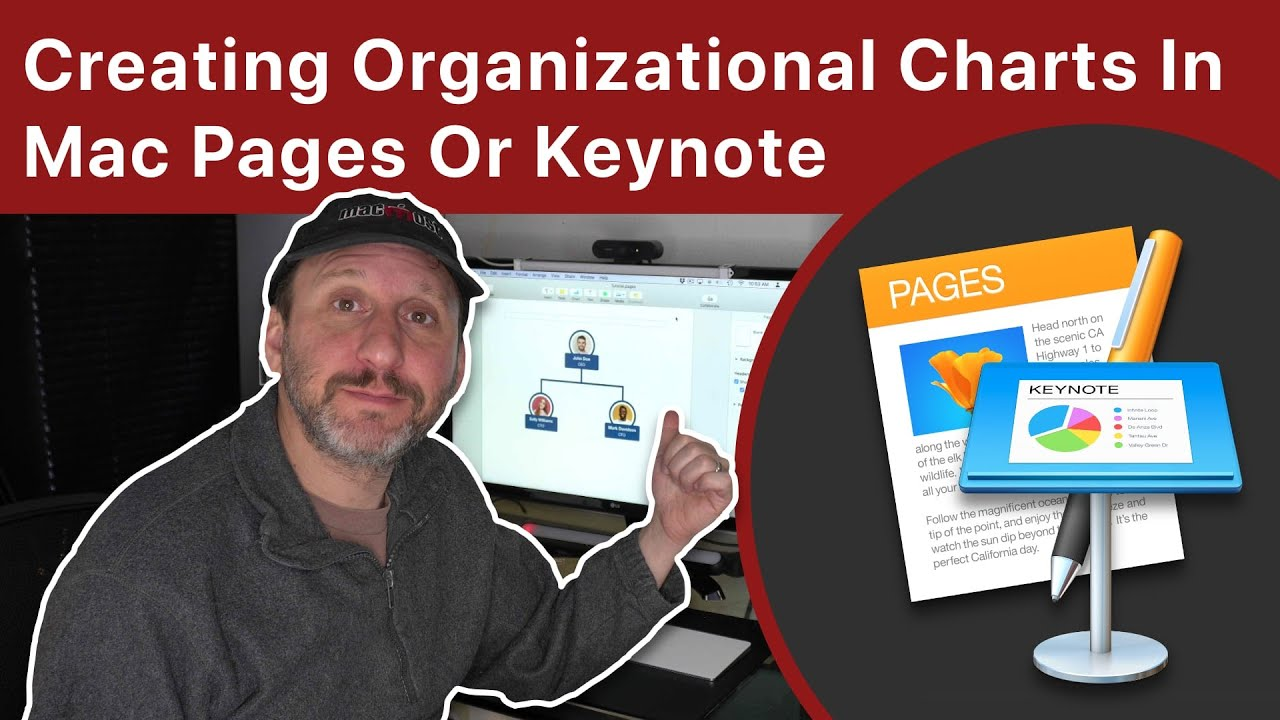 Creating Organizational Charts In Mac Pages Or Keynote Youtube