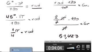conversion de grados sexagesimales, radianes y centesimales