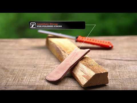 Outdoorsmen, This Sharpener Has Your Back!  Sharpal BUDDYGUARD Diamond Sharpener & Leather Strop