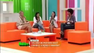 Adriane Galisteu entrevista Simone e Simaria na BAND